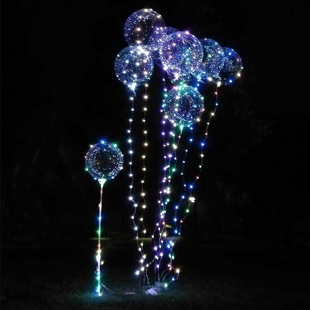 Cute Led Balloon Light Transpa Wave Ball Christmas Decoration Lights Party Wedding Atmosphere Garland Fairy