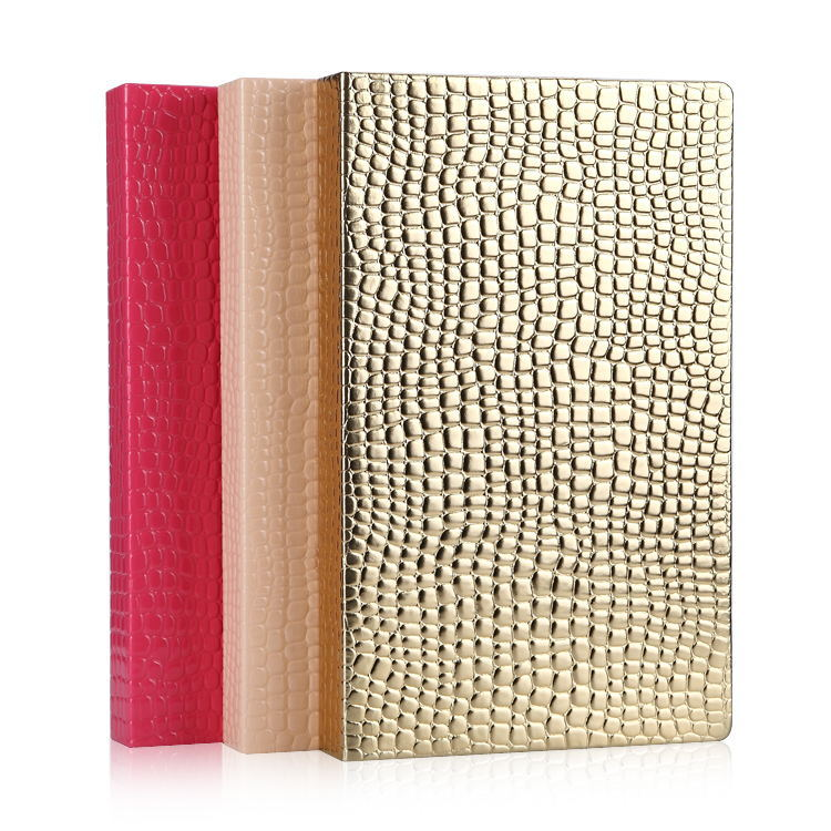 Alligator Pattern Delicate Golden PU Leather 216 Colors Nail Art Tool Card Chart Book for Nail Gel Colors Display