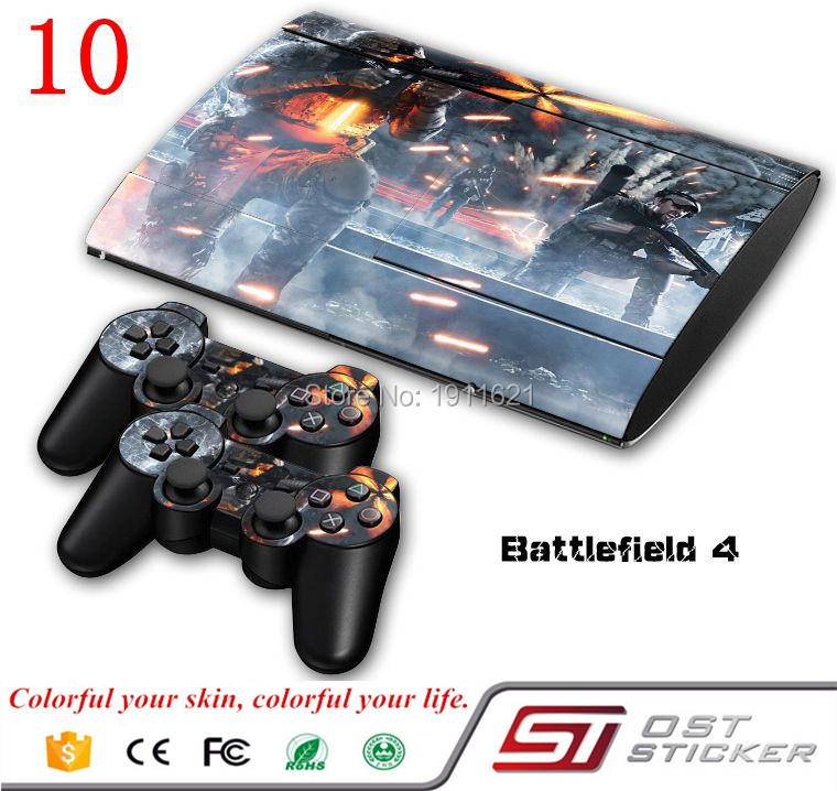Custom Skin Sticker For Sony Playstation 3 Super Slim Console System For PS3 Controller Decal Stickers