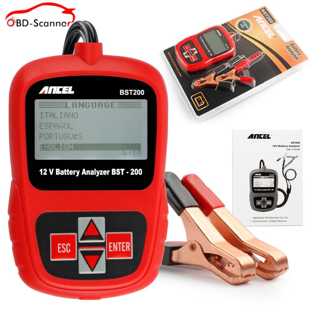 Купить Проверка батареи анализатор батарей 12 В свинцово-кислотная батарея тестер нагрузки автомобильная авто батарея тестер