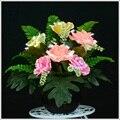 Flash de cor rosa flor simulação decorações novelty novo mobiliário doméstico artesanato mais recentes produtos populares