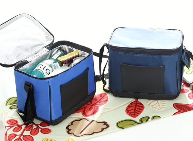 free shipping out door Thermal insulated large beer lunch box foodgrade Cooler Bag Ice aluminum film Pack nylon sling milk bag