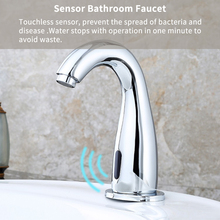 Touchless Sensor Automatic Smart Infrared Bathroom Kitchen Sink Faucet Chrome Finished Brass Solenoid Valve Basin Water Tap стоимость