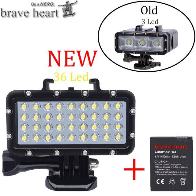 Nieuwe Go Pro Hero 5 36 Led Kralen Duiken Lamp Waterdicht Licht Voor Gopro 6 5 4 Xiaomi Yi 4K + Yi Lite Mijia Sjcam SJ8 Accessoires