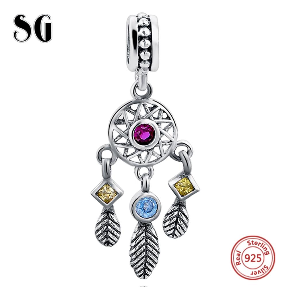 Sterling silver Charm Beads Fit Authentic Pandora Charms Náramek Stříbro 925 Originální Ženy Šperky Berloque diy Peří Přívěsek