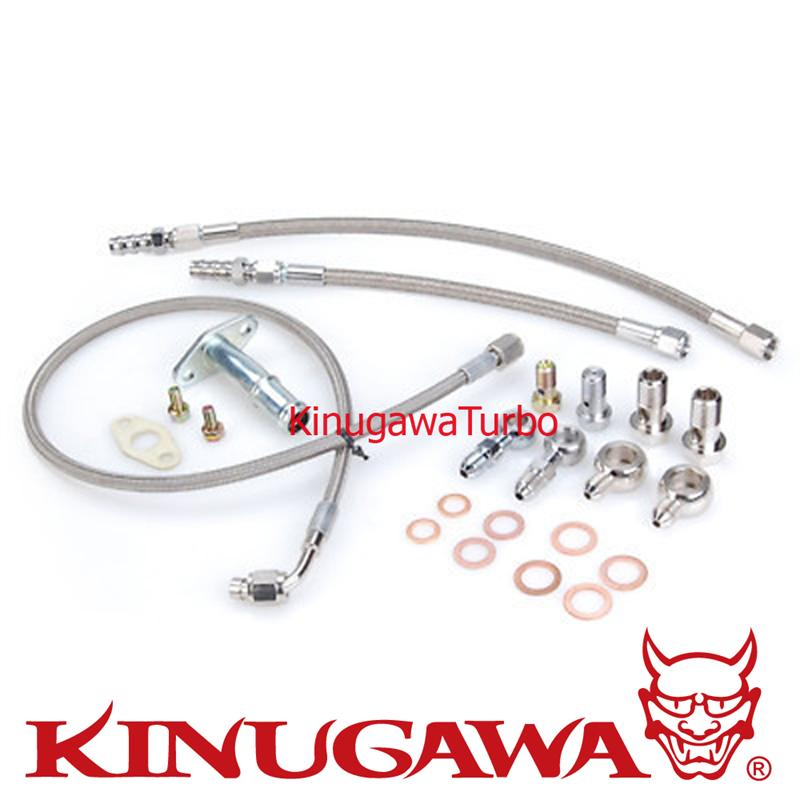 Kinugawa Turbo Oil & Water Line Kit for 4B11T Lancer EVO X 10 w/ Stock TD05H /TD05HA Turbo kinugawa turbo oil