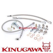 Kit linha para 4b11t turbo oil & water kinugawa lancer evo x 10 w/estoque td05h/td05ha turbo