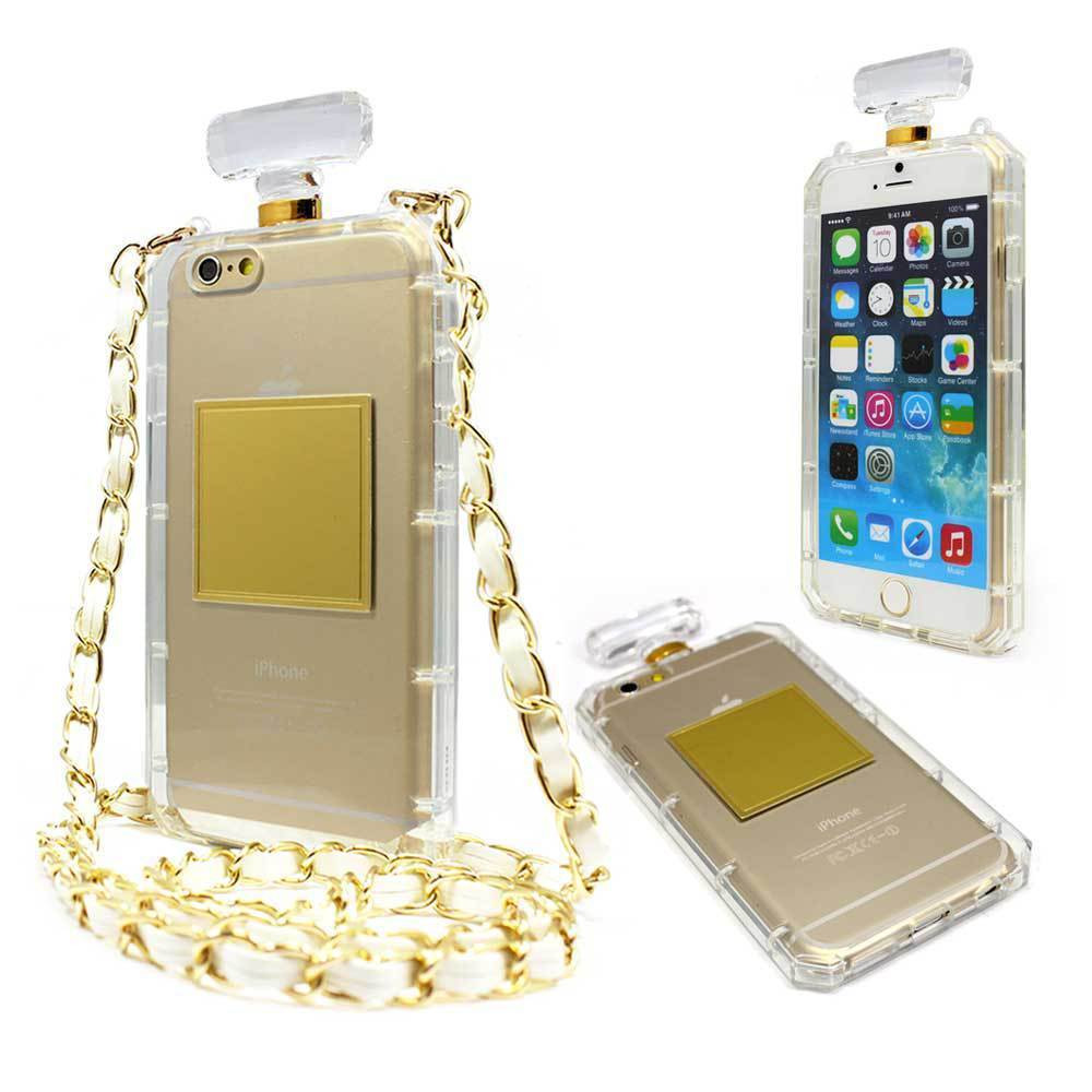 luxury tpu chain perfume bottle case for iphone 7 7plus 6. Black Bedroom Furniture Sets. Home Design Ideas