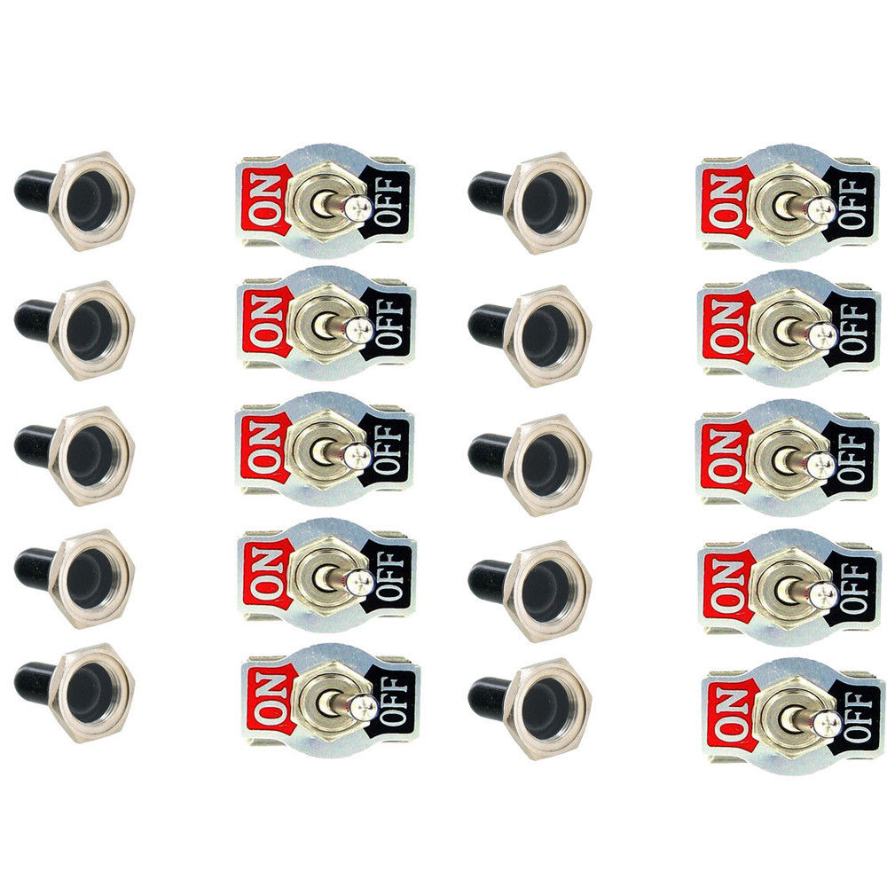 10 stks Zware Auto Boot 20A 125 v SPST 2 Terminal ON/OFF Toggle Switch