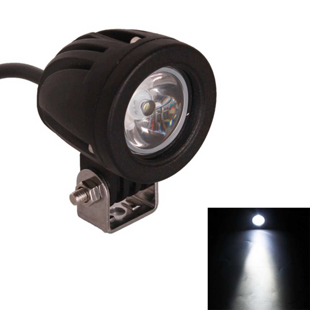 10W LED Work Light For Offroad Motorcycle 4x4 ATV Motor Spot Beam Lights 6500K Work Driving Fog Light
