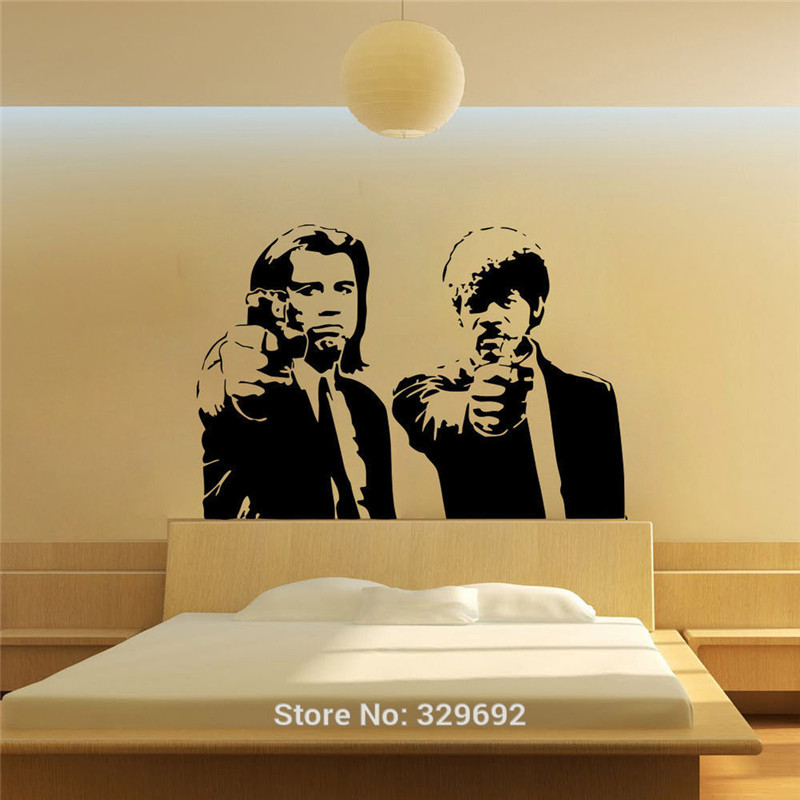 Online Shop Banksy Jules and Vincent Pulp Fiction Vinyl Wall Decal ...