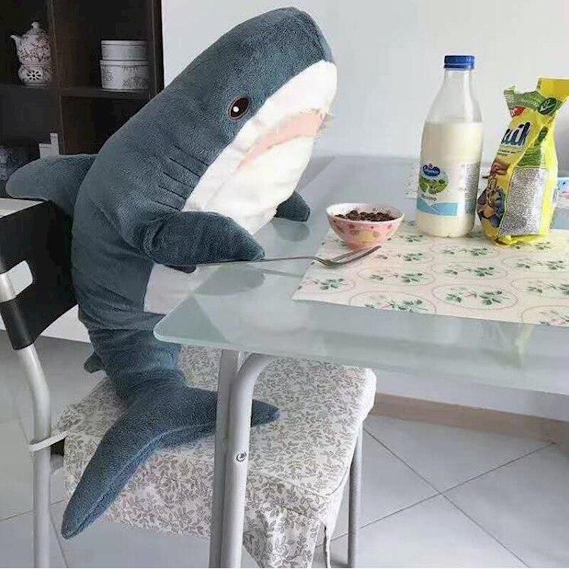 Shark soft spielzeug für kinder plüschtiere große shark kissen baby jungen spielzeug jouet geschenk raum dekoration speelgoed bebes coussin