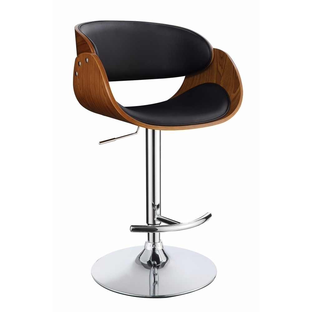 Contemporary Style Adjustable Bar Stool, Black And Brown футболка print bar brown line