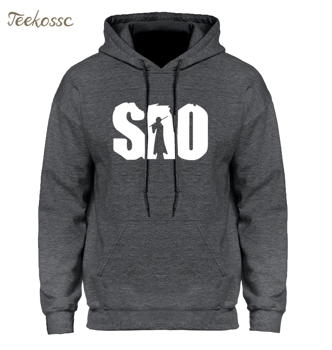 Japan Anime Sword Art Online SAO Hoodies Men Warm Fleece Simple Sweatshirt Men Hoody Harajuku Hoodie Hombre Loose Sweatshirts