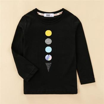 Kids US size clothes children tops 100% cotton shirt boy long sleeve t-shirt 4 planet design girl pineapple print tees 1