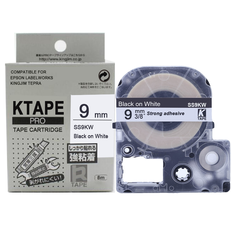 CIDY 1pcs wholesale 9MM Black on White SS9KW/LC-3WBN LC-3WBN9 LC 3WBN tape for kingjim/epson for LW300 LW400 with factory priceCIDY 1pcs wholesale 9MM Black on White SS9KW/LC-3WBN LC-3WBN9 LC 3WBN tape for kingjim/epson for LW300 LW400 with factory price