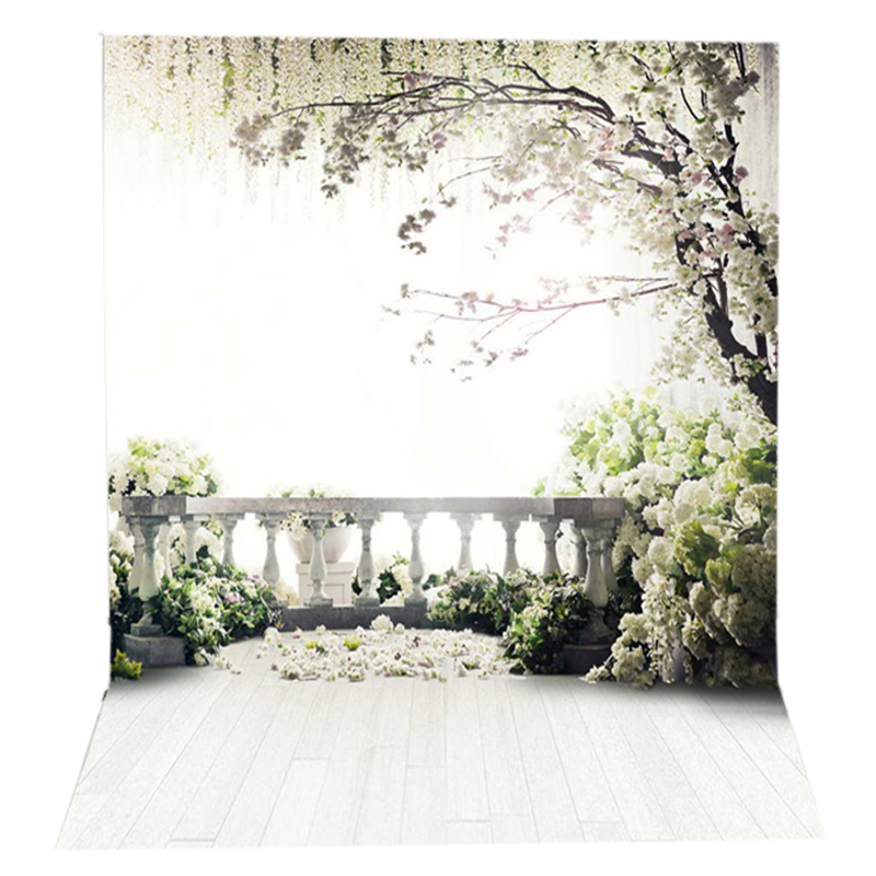150x220 cm Flowers Photo Background trees garden loft wedding Photography backgrounds Studio Interior Photo