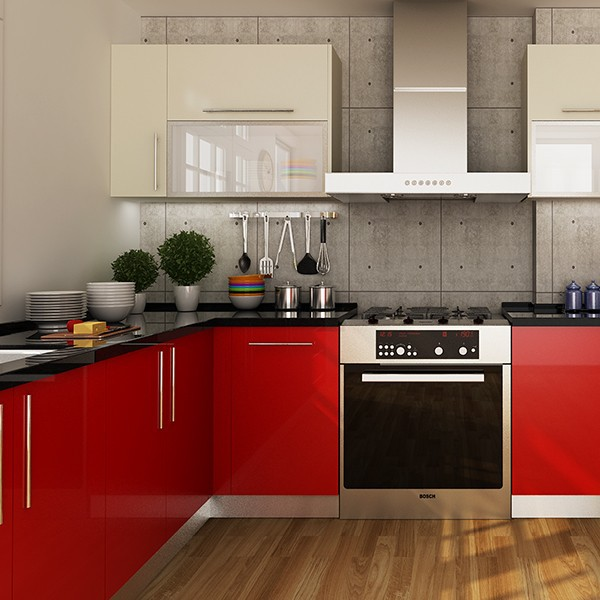 Kenya Project Modern Design Round Laminate Kitchen Cabinets