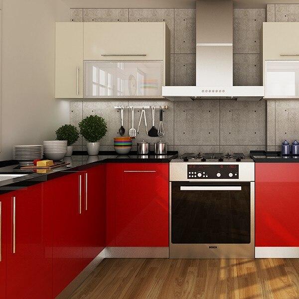 Kenya Project Modern Design Round Laminate Kitchen Cabinets