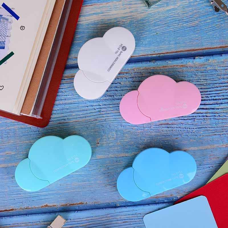 5M Briefpapier Winkel Corrector Tape Creatieve Materiaal Voor Kinderen Cartoon Snoep Kleur Cloud Correctie Tape School Chancery