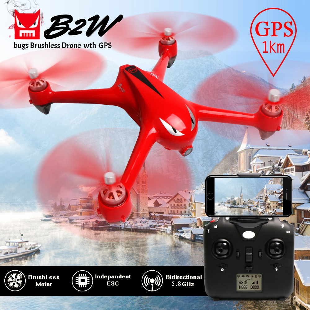 MJX Bugs 2W B2W GPS Drones FPV WIFI Real Time RC Drone With 1080P font b