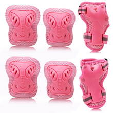 THICKEN 6pcs/set Skating Protective Gear Sets PE Elbow Pads Bicycle Skateboard Ice Skating Roller Knee Protector For Kids