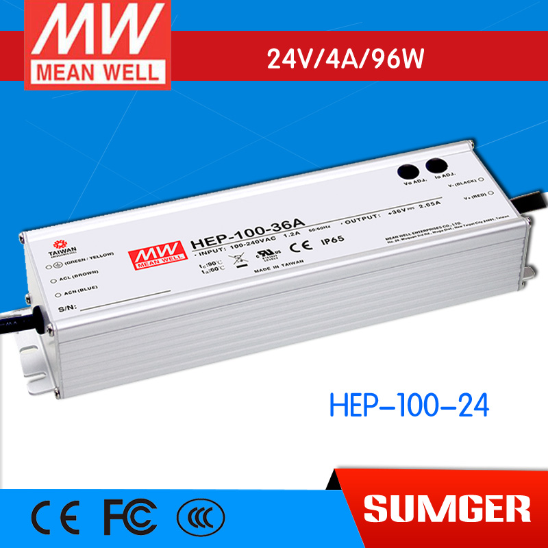 1MEAN WELL original HEP-100-24 24V 4A meanwell HEP-100 24V 96W Single Output Switching Power Supply цены онлайн
