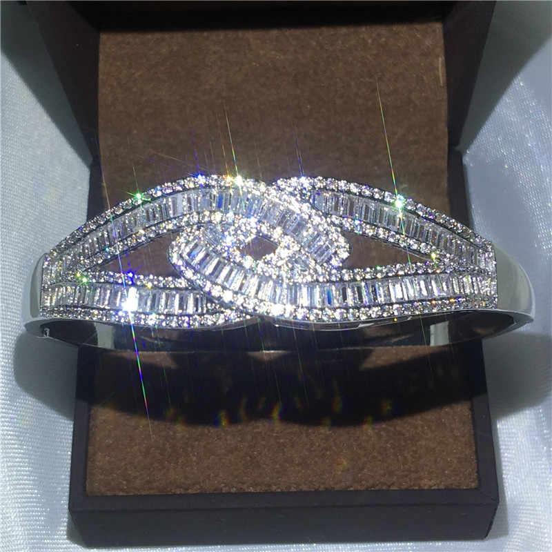 Choucong 27 รูปแบบ Handmade กำไลข้อมือ 5A Cubic Zirconia White Gold Filled PARTY สร้อยข้อมือกำไลข้อมือผู้ชายผู้หญิงงานแต่งงานอุปกรณ์เสริม