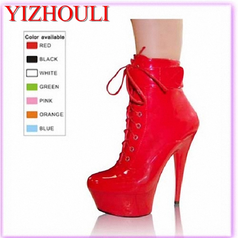 Hot style 15CM ultra high heels with sexy patent leather elastic boots, night field toning belt, belt buckle dancing shoes 20cm pole dancing sexy ultra high knee high boots with pure color sexy dancer high heeled lap dancing shoes