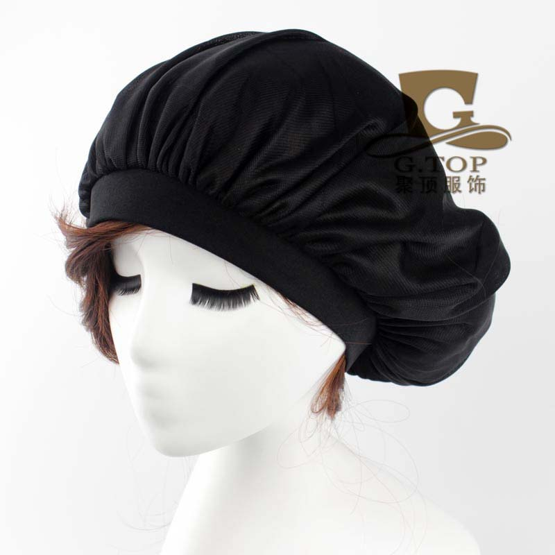 New women Donna Sleep Cap wide band satin Bonnet cap turban headband Soft Comfortable G1
