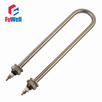 Iron Head Stainless Steel Tube Heating Element 220V 1 5KW M16 Mounting Thread Electric Water Heating