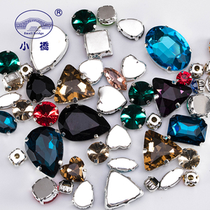 Image 2 - Glitter Crystal Sew On Rhinestone With Claw Diy Colorful Dress Stones Mix Shape Glass Rhinestones For Clothing 50PCS/PACK S037