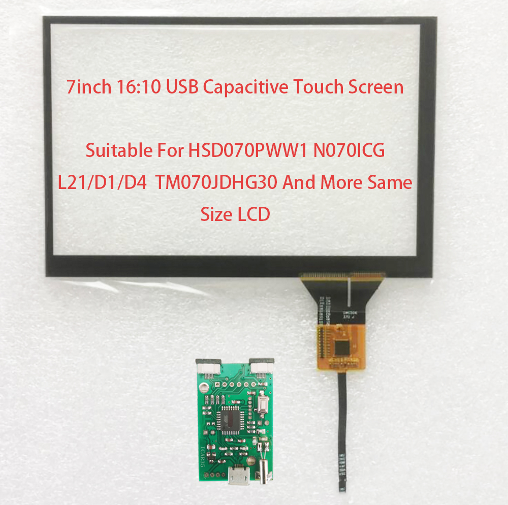 7inch 16 10 USB Touch Screen 161 107mm Support Win7 8 10 Android Linux Suitable For