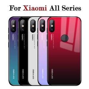 Case On ksiomi redmi 5 plus For Xiaomi Mi a2 lite mi8 SE A2 A1 Mix 2 s2 Glass Cover Coque Note 5 Pro Plus 5A 4X 3 4 X 6 xiaomei(China)