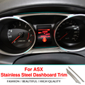 2pcs/set Car stainless steel trim Article dashboard decorations For Mitsubishi ASX 2011 2012 2013