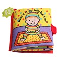 """Hot sale Baby Toys Infant Early Education """"Where is My Belly Button"""" Cloth Book Unfolding Activity Books"""
