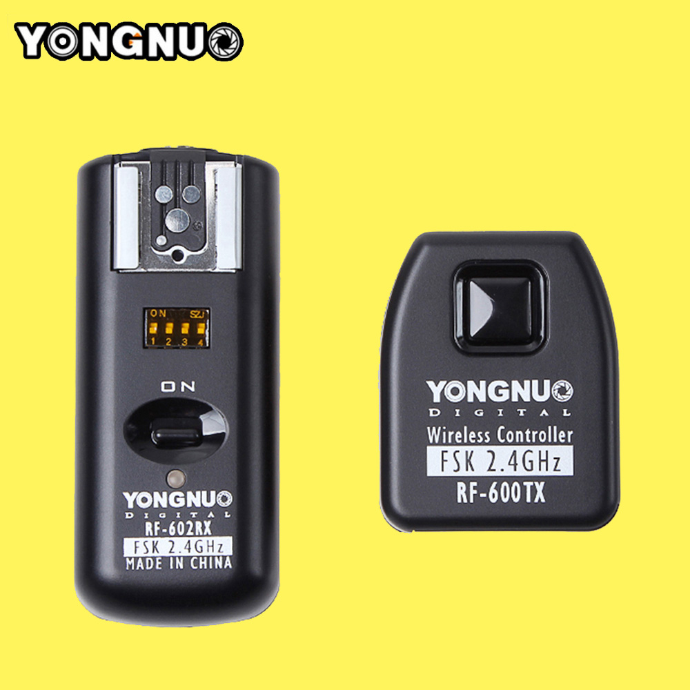 Yongnuo RF602 RF 602 C 2 4GHz Wireless Remote Flash Trigger Transmitter Receiver for Canon 1100D
