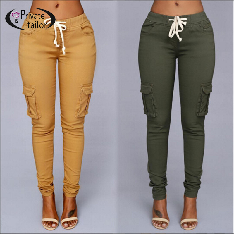 green khaki pants women - Pi Pants