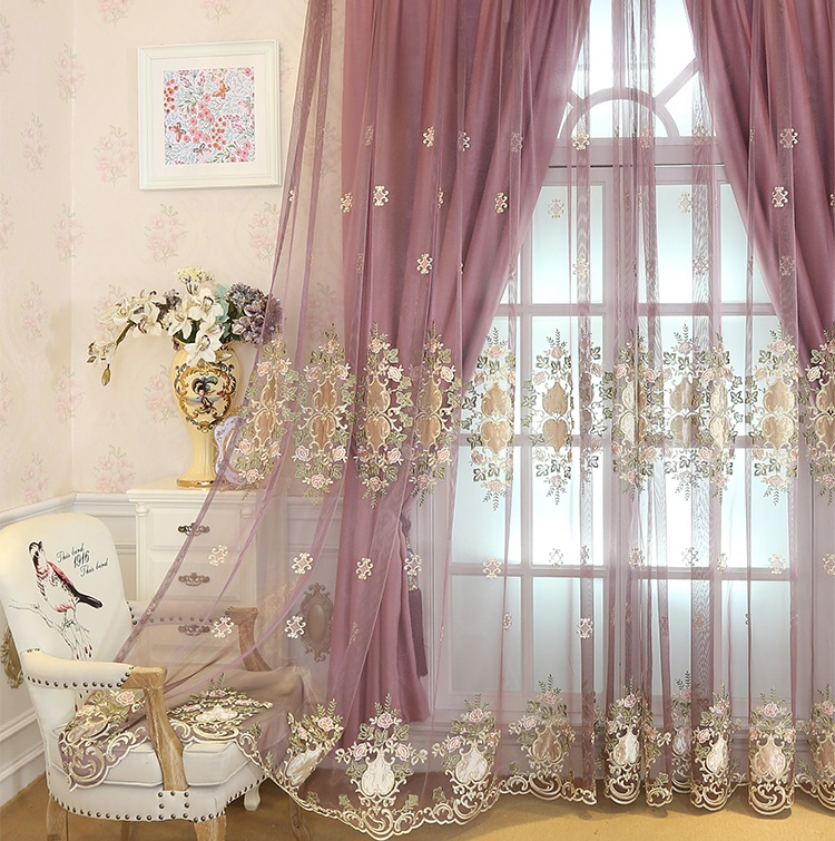 1 Pc Curtain And 1 Pc Tulle Peony Luxury Window Curtains: Aliexpress.com : Buy European Luxury Embroidered Tulle