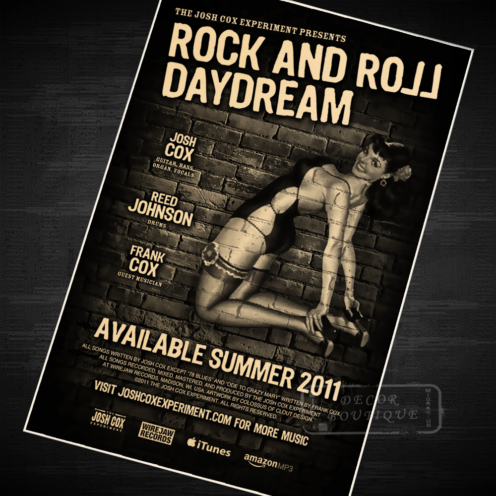 US $3 98  Rock and Roll Daydream Pop Music Poster Classic Retro Vintage  Kraft Decorative DIY Wall Canvas Sticker Home Bar Posters Decorati-in  Painting