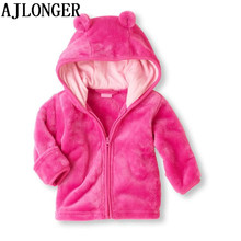 AJLONGER Baby Boys Girl Hoodies Kids Autumn Winter Warm Cartoon Outerwear Clothing Children Sweatshirts Coat