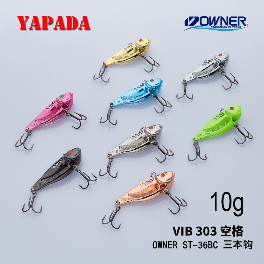 YAPADA VIB 303 공간 10g / 15g OWNER Treble Hook 43-49mm 깃털 - 어업