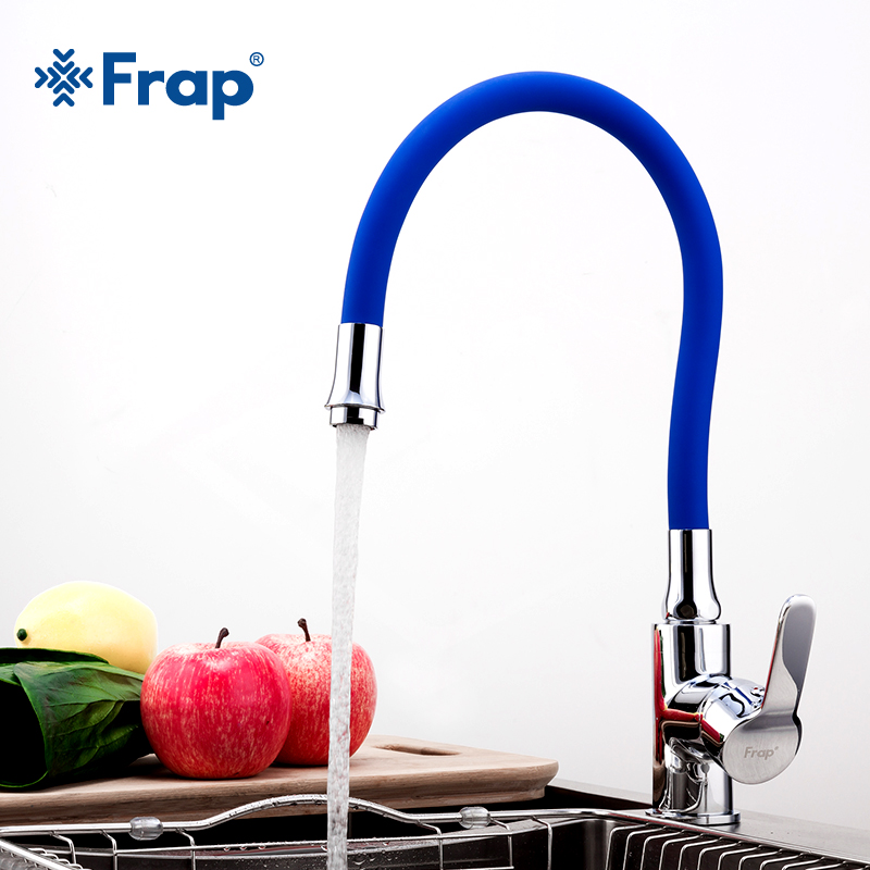 Frap Silica Gel Nose Any Direction Rotating 360 Degree Torneira Para Cozinha Cold And Hot Water Mixer Single Handle Tap F4353