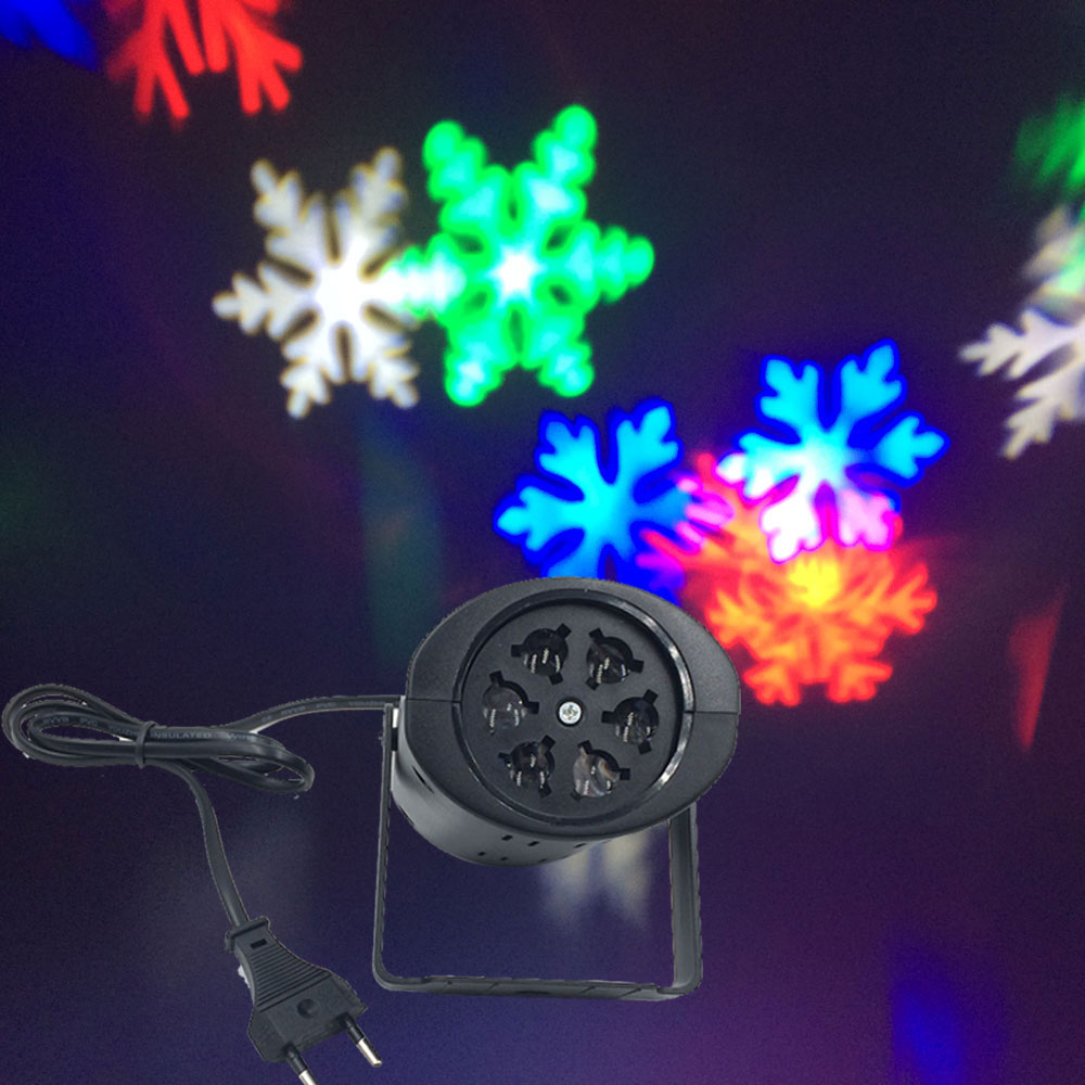 Moving Snow Laser Projector Lamps Snowflake LED Stage Light For Christmas Party Landscape Light Garden Lamp