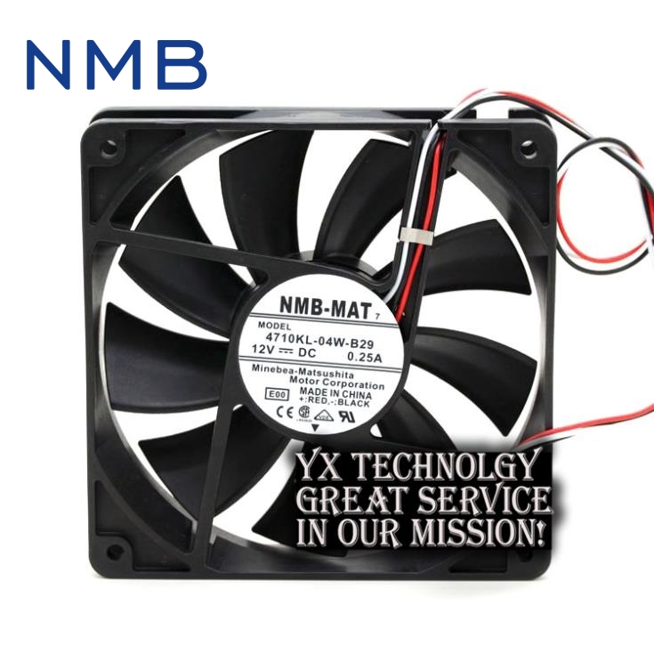 New 4710KL-04W-B29 12025 12CM 0.25A wire speed professional chassis cooling fan for nmb professional welding wire feeder 24v wire feed assembly 0 8 1 0mm 03 04 detault wire feeder mig mag welding machine ssj 18