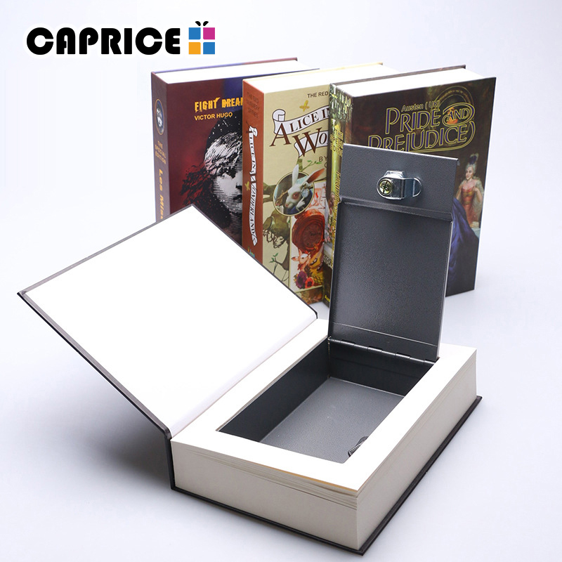 Metal Money Box Book Safe Saving Case Deposit Secret Piggy Bank Home Decoration Accessories Wedding Favors for Guests SB-ZZ