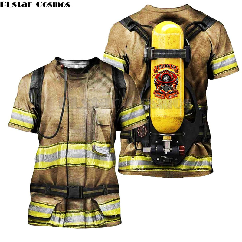 175f2f81174b Family matching Outfits monther Kids clothes Firefighter Suit 3D Print t  shirts Fireman son daughter Hoodies/Sweatshirt/Jacket 1-in Matching Family  Outfits ...