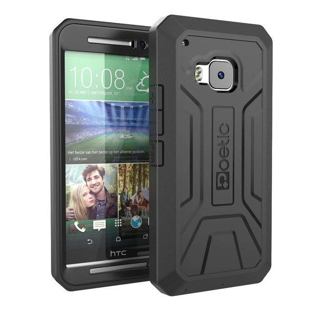 Joylink Black Armor Phone Case For HTC one m9, Defender Dual Layer Rugged Hybrid Mobile Phone Cover for HTC one m9 Case
