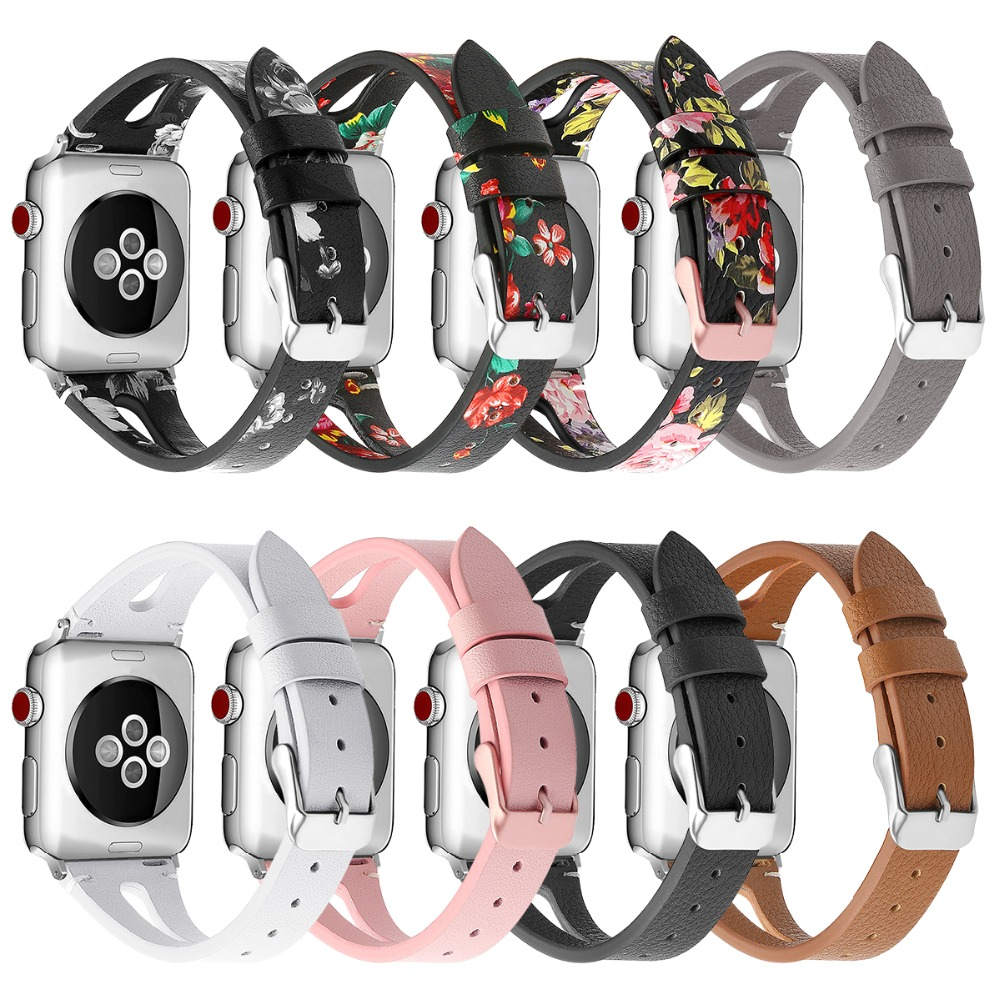 Leather Watch Strap For Apple Watch Band 38mm 44mm 40mm 42mm Leather Band Wristband Replacement Bands For Iwatch Bracelet 83008