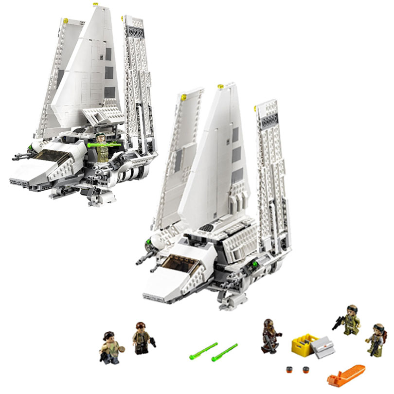 Lepin 05057 Space War 937Pcs The Imperial Shuttle Model Building Blocks Bricks Toys Kids Gift Children Gifts 75094 loz architecture space shuttle mini diamond nano building blocks toys loz space shuttle diy bricks action figure children toys